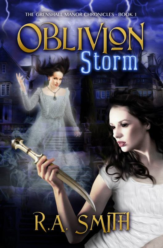 The old (first edition) cover of Oblivion Storm