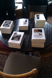 The books laid out ready