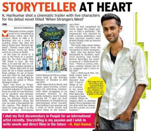 An interview with The Deccan Chronicle