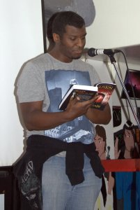 R.A Smith at the 2014 World Book Night at FAB cafe