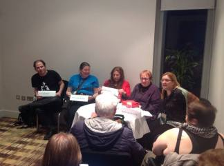 Authors incliding Jacey Bedford and Ruth Long doing a panel at Mancunicon Eastercon