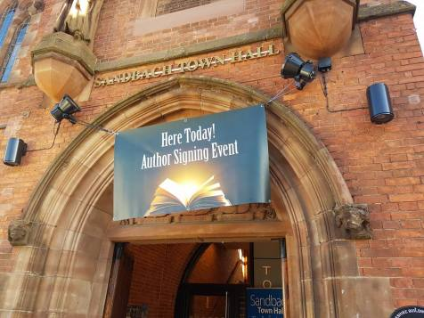 #SASE Sandbach Author Signing event at Sandbach town hall