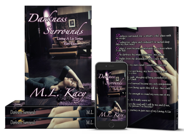 M.L Kay Darkness Surrounds Cover reveal