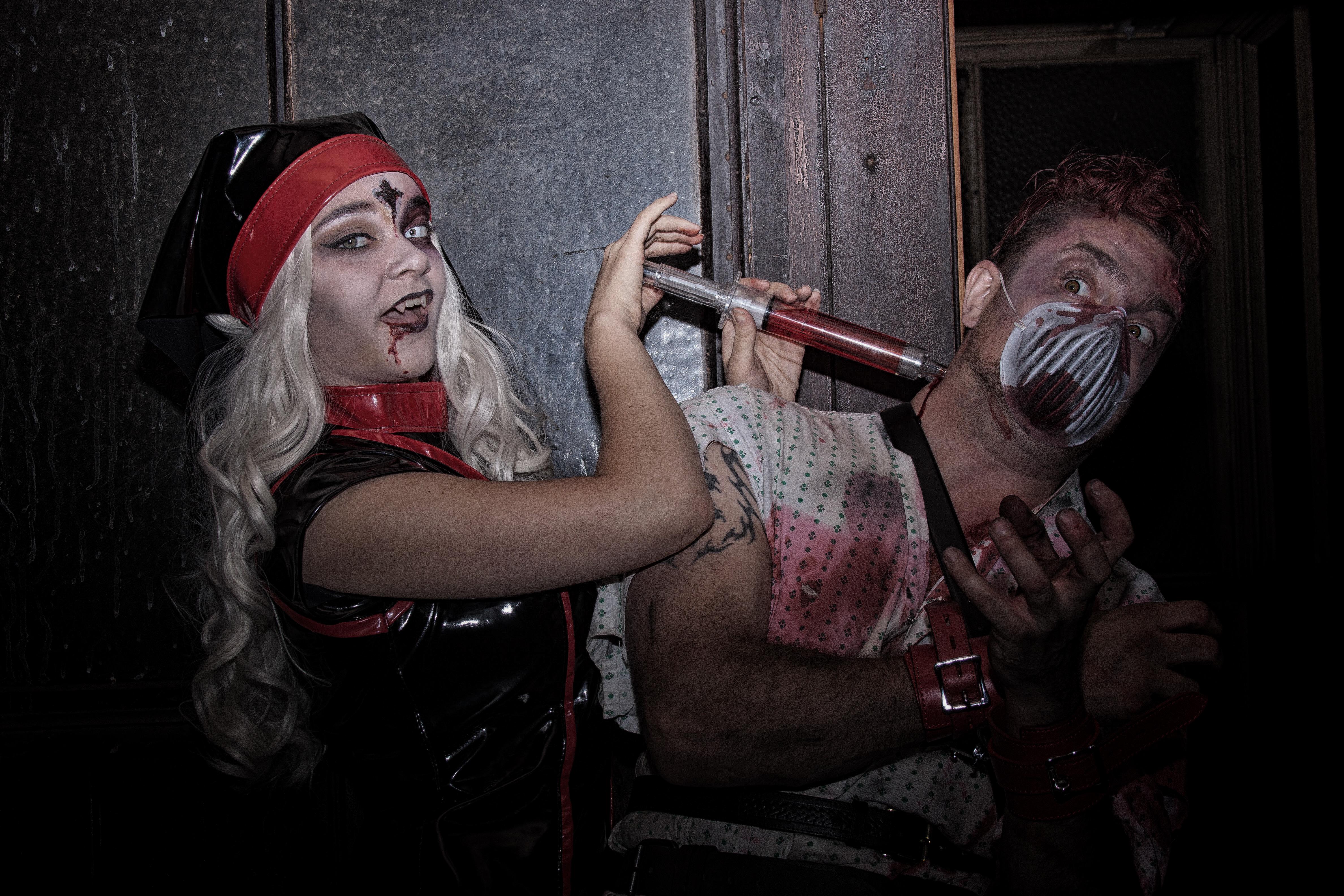 kinky PVC nurse vampireblood asylum patient