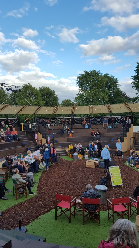 The Grosvenor Park open air theatre for Storyhouse's Julius Caesar