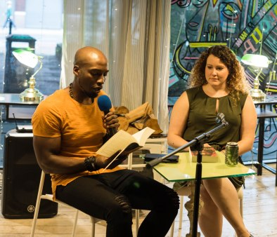 Micha Yongo does a reading in Manchester's Chapter One books