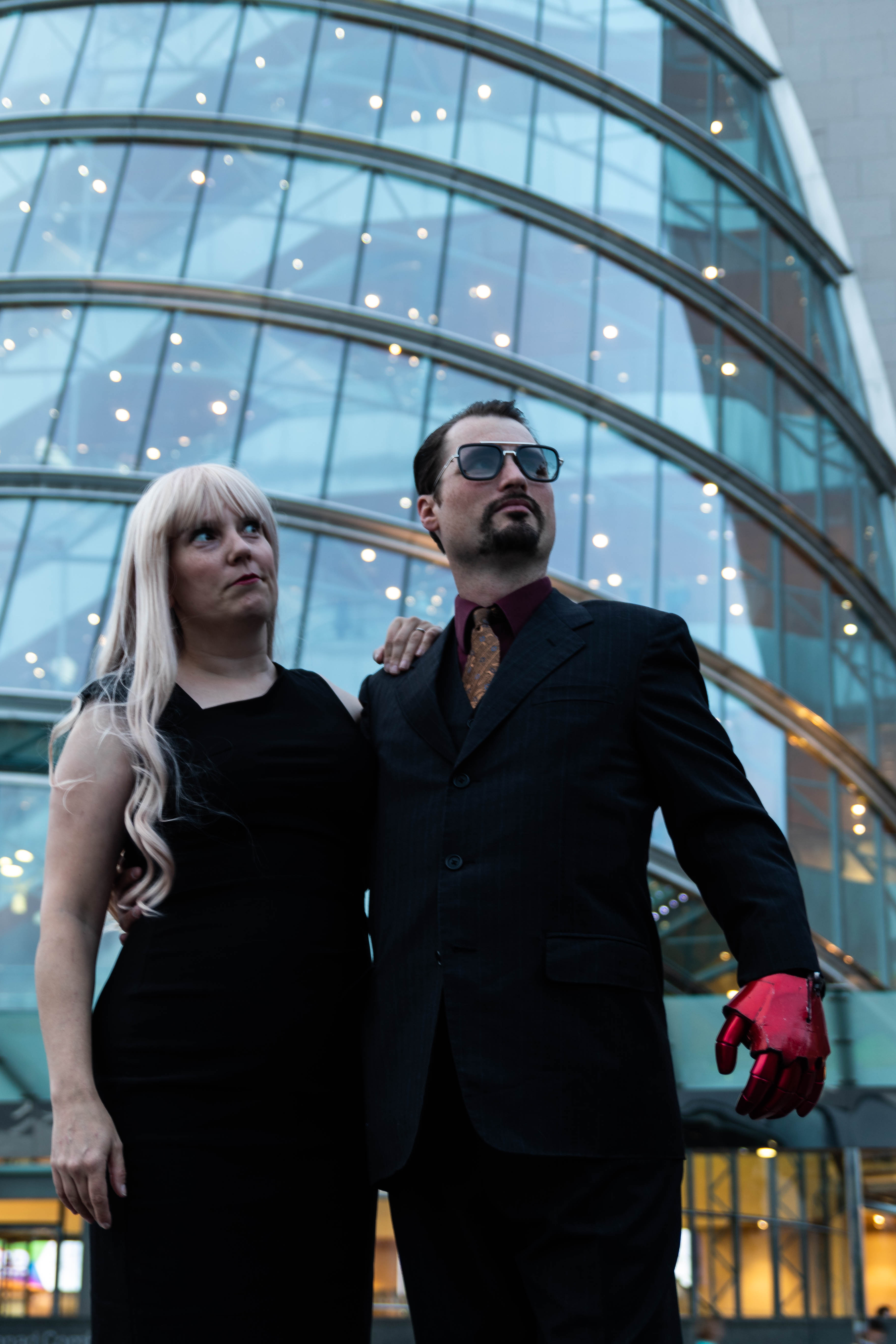 Cosplay Tony Stark and Pepper Potts outside the Dublin CCD