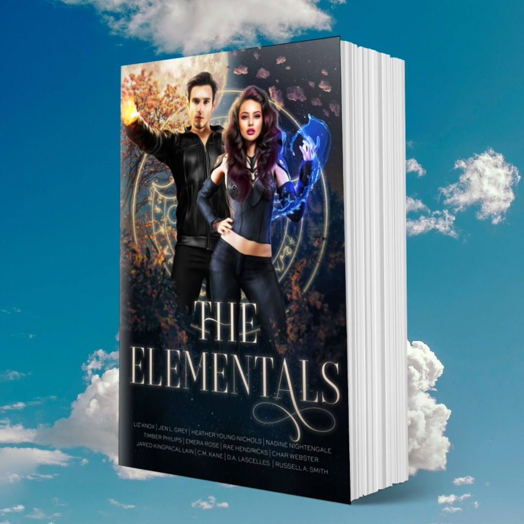 Cover of The Elementals in the element of air (surrounded by clouds)